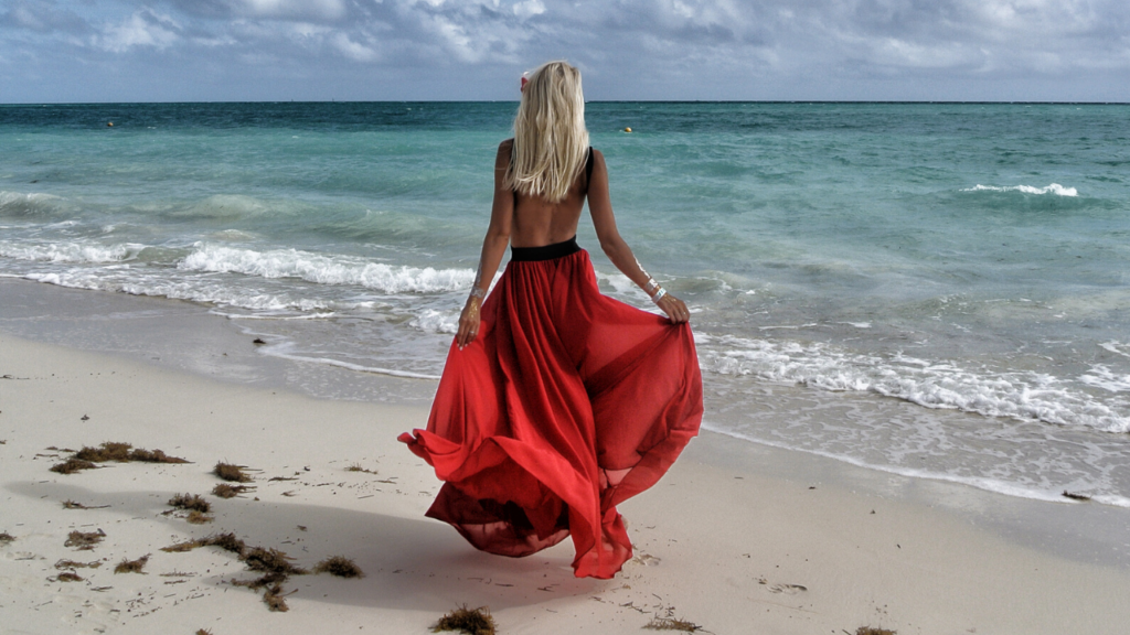 vestito rosso Elisa Sergi